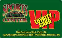 Sports Center Store VIP Loyalty Card